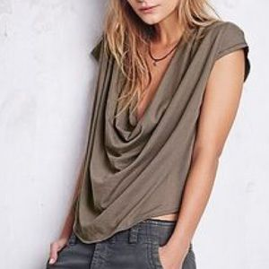Free People We The Free Fantasy Jersey Cowl Tee